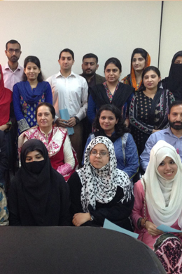 Tea held for high-achievers of FMH Institute of Allied Health Sciences